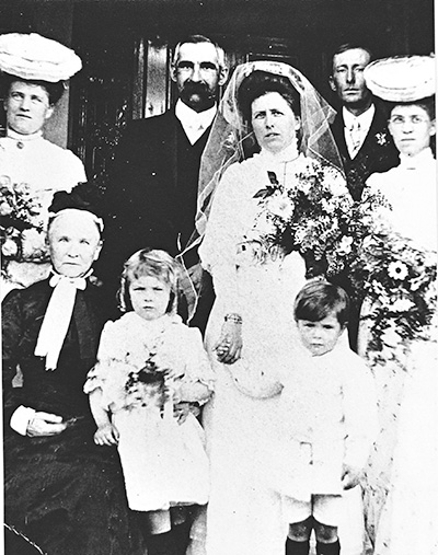 Jane Henderson, Horace Blundell wedding, 7 June 1906